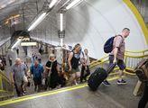 Nával ve stanici metra trasy B Florenci