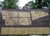 Orientační plán Olšanských hřbitovů
