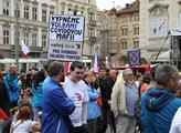 Protest proti schválení novely volebního zákona po...