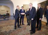 Prezident republiky Miloš Zeman přijal nejvyšší ús...