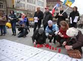 Vzpomínka na události na ukrajinském Majdanu během...