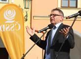 Ministr zahraničí Lubomír Zaorálek na předvolebním...