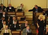 Jiří Koskuba a Vítězslav Jandák ve sněmovně