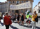 Protest profesionálních průvodců po Praze za nedos...