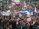 Demonstrace vládu nezabolí. Dopravní odbory už mluví o velkém přitvrzení