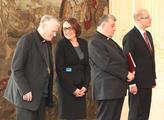 Biskup Václav Malý, primátorka Prahy Adriana Krnáč...