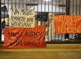 Okupační stávka za klima v budově Karolina