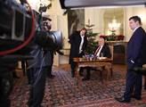 Prezident Miloš Zeman přednesl ze zámku v Lánech s...