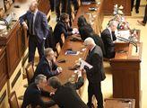 Mimořádná schůze sněmovny svolaná k návštěvě předs...