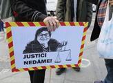Protest za nezávislost justice. Pořádalo hnutí Mil...