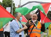 Protest na podporu Palestiny a proti nelegálním iz...