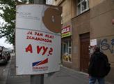 Potrhaný volební plakát SPOZ