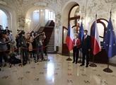 Předseda vlády Andrej Babiš v Praze přivítal předs...