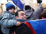 Studentská demonstrace k 17.11. na Albertově