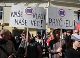 Demonstrace Strany svobodných občanů proti povinný...