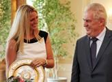Prezident Miloš Zeman přijal na Pražském hradě vít...