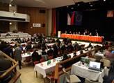 Pohled do zasedacího sálu ÚVV ČSSD