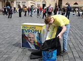 Společné předvolební shromáždění proevropských str...