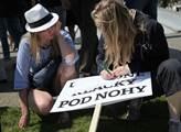 Demonstrace proti zavedení elektronické evidence t...