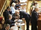 Schůze sněmovny s projevem prezidenta Miloše Zeman...