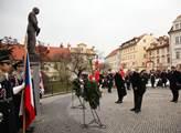 Prezident republiky Miloš Zeman a exprezident repu...