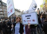 Na Václavském náměstí proběhla demonstrace proti p...