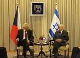 Miloš Zeman s prezidentem Izraele Šimonem Perésem