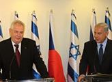 Miloš Zeman s premiérem Benjaminem Netanjahuem