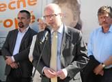 Kandidáty do eurovoleb přijel podpořit premiér Boh...