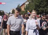 S fašisty se nebavím! Chceme na Slovensko muslimské migranty. Reportérka terčem urážek na LGBT pochodu v Košicích. A nejen to
