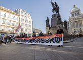 Kosovo je Srbsko. Připomínka na Václavském náměstí
