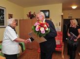 Prezident Miloš Zeman si  prohlédl příbramskou nem...