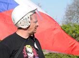 Protesty proti Miloši Zemanovi a KSČM v Nymburku