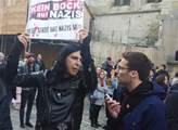 Na mítinku v Regensburgu