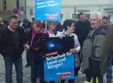 Protest AfD v Regensburgu
