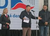 Předseda SPD Tomio Okamura, místopředseda Radim Fi...