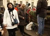 Čekání na začátek zádušní mše za Václava Havla