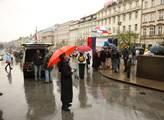 Demonstrace Holešovské výzvy na Václavském náměstí