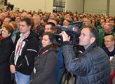 Zaměstnanci firmy Zetor na setkání s prezidentem M...