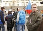 Příznivci SPD na Václavském náměstí