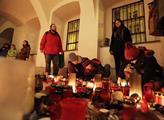 Svíčky pro zesnulého Václava Havla