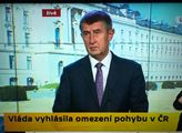 Premiér Babiš: Žádný zákaz vycházení se nechystá. Té paní hrozí 8 let a policie už je na dobré cestě