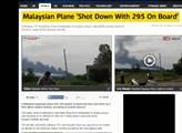 Zahraniční servery zaplnily zprávy o sestřelném le...