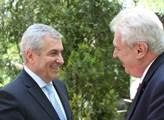 Miloš Zeman s předsedou rumunského Senátu