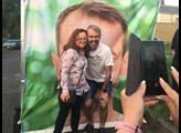 Na selfie s Robertem Šlachtou se stále fronta