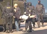 Zlomenina obratlů, pohmožděná ledvina, zranění břicha, modřiny. Další brutální zásah Lukašenkovy policie