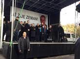 Prezident Miloš Zeman na shromáždění k výročí stát...