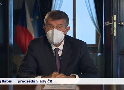 Premiér Babiš: Roušky nenosíte kvůli nám, ale kvůli vašim rodičům a prarodičům