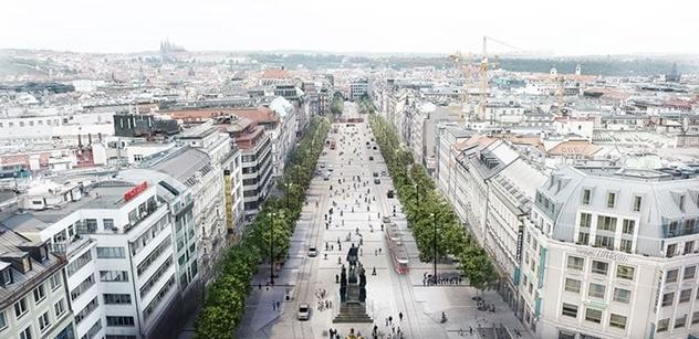 MHMP:  Praha představila novou podobu Václavského náměstí, vrátí se tramvaje a přibydou stromy