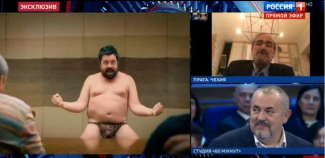 VIDEO Tak pozor. Výstup Pavla Novotného v ruské televizi má pokračování: Blázen, pražská kavárna, sorosovské struktury